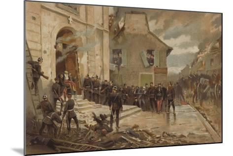 Le Bourget, 30 October 1870-Alphonse Marie de Neuville-Mounted Giclee Print