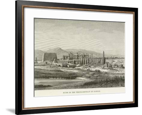Ruins in the Temple-District of Karnak--Framed Art Print