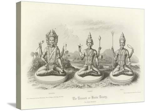 The Trimurti or Hindu Trinity--Stretched Canvas Print