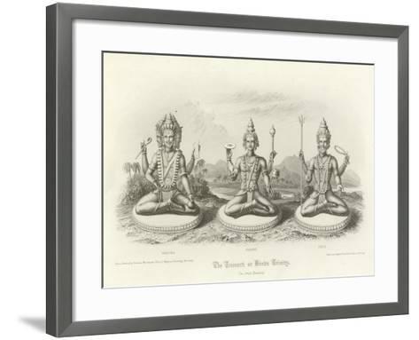 The Trimurti or Hindu Trinity--Framed Art Print