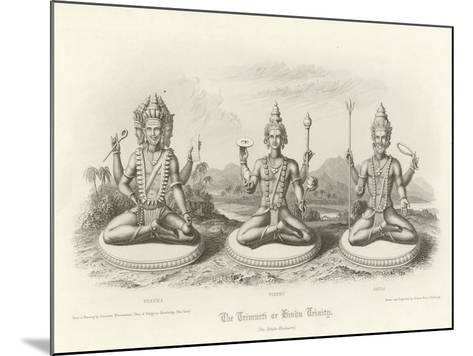 The Trimurti or Hindu Trinity--Mounted Giclee Print