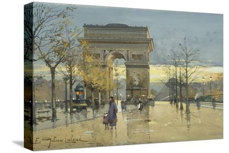 Arc De Triomphe-Eugene Galien-Laloue-Stretched Canvas Print