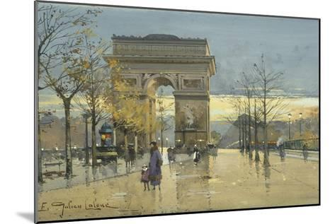 Arc De Triomphe-Eugene Galien-Laloue-Mounted Giclee Print
