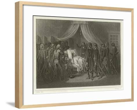 The Death of General Hoche-Denis Auguste Marie Raffet-Framed Art Print