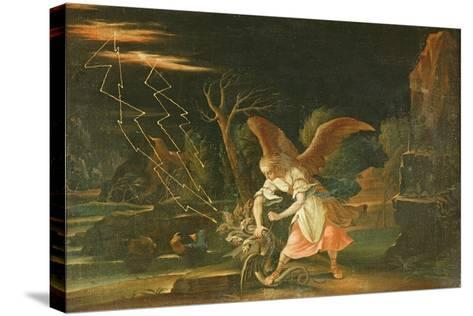 Angel Chaining the Dragon from Hell--Stretched Canvas Print