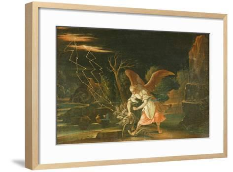 Angel Chaining the Dragon from Hell--Framed Art Print