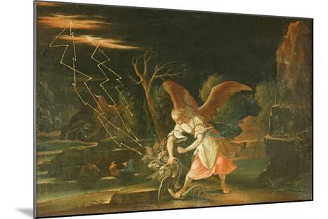 Angel Chaining the Dragon from Hell--Mounted Giclee Print