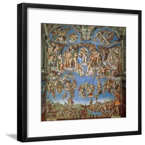 The Last Judgement, Sistine Chapel 1534-41--Framed Art Print