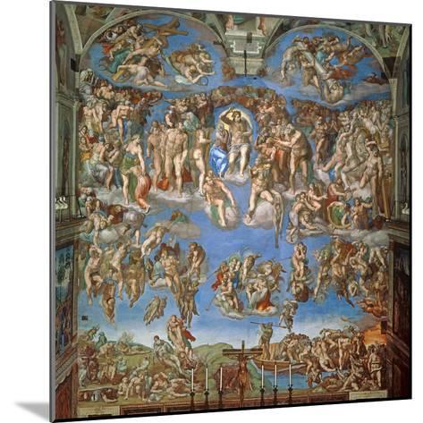 The Last Judgement, Sistine Chapel 1534-41--Mounted Giclee Print