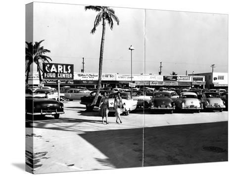 Fort Lauderdale Strip Mall, 1954--Stretched Canvas Print