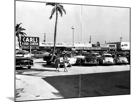 Fort Lauderdale Strip Mall, 1954--Mounted Photographic Print