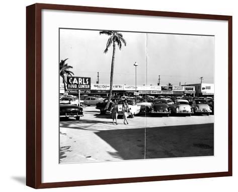 Fort Lauderdale Strip Mall, 1954--Framed Art Print