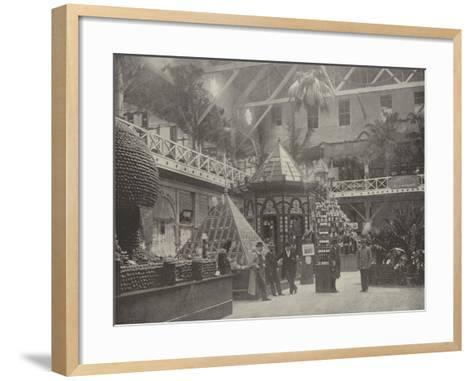 South End of the California Building--Framed Art Print