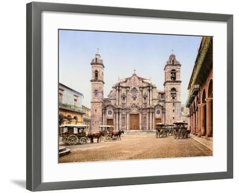 Old Cathedral Plaza, Havana, 1903--Framed Art Print
