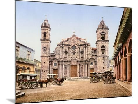 Old Cathedral Plaza, Havana, 1903--Mounted Photographic Print