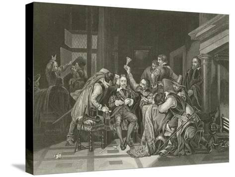Charles the First in the Guard Room-Hippolyte Delaroche-Stretched Canvas Print