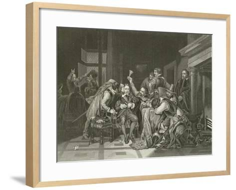 Charles the First in the Guard Room-Hippolyte Delaroche-Framed Art Print