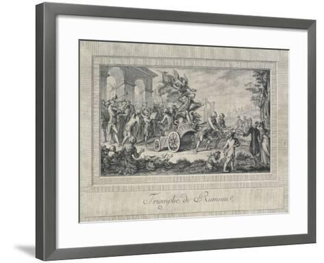 The Triumph of Jean Philippe Rameau--Framed Art Print