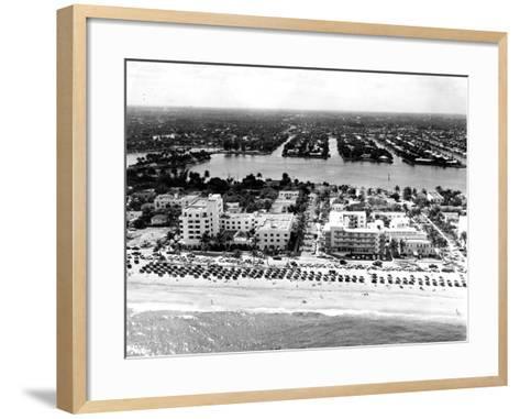 Lauderdale Beach and Islands, C.1950--Framed Art Print