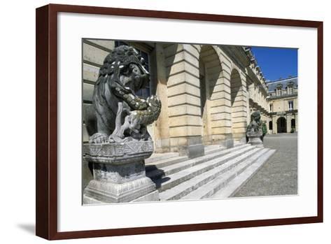 Fontana Court, Palace of Fontainebleau--Framed Art Print
