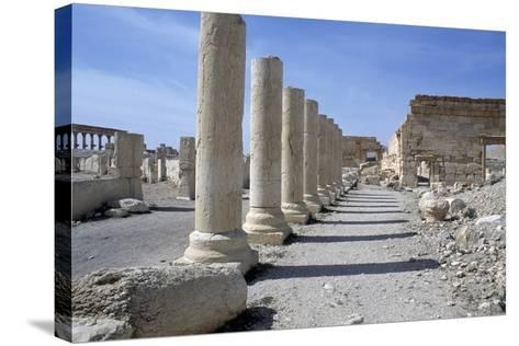 Ruins of Colonnade in Palmyra--Stretched Canvas Print