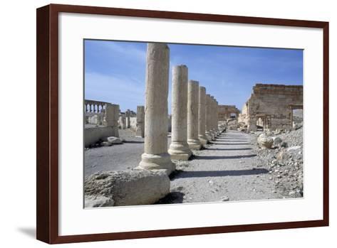 Ruins of Colonnade in Palmyra--Framed Art Print
