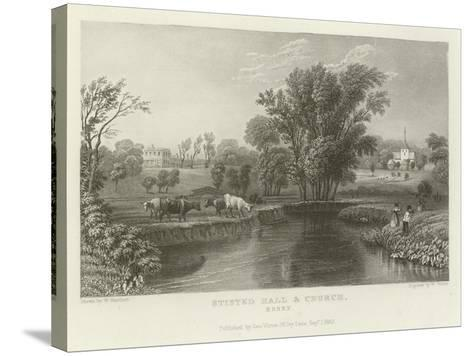 Stisted Hall and Church, Essex-William Henry Bartlett-Stretched Canvas Print