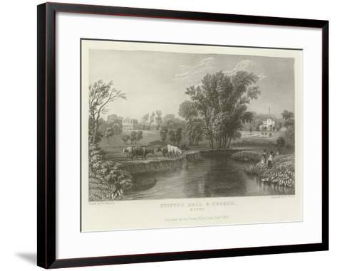 Stisted Hall and Church, Essex-William Henry Bartlett-Framed Art Print