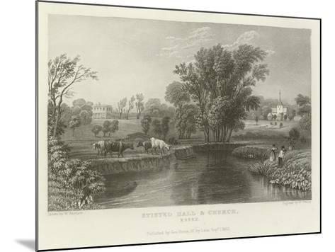 Stisted Hall and Church, Essex-William Henry Bartlett-Mounted Giclee Print
