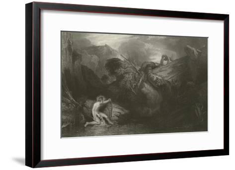 Apollo Killing the Python-J^ M^ W^ Turner-Framed Art Print