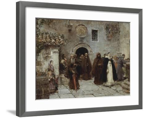 The Procession-Jose Benlliure Y Gil-Framed Art Print