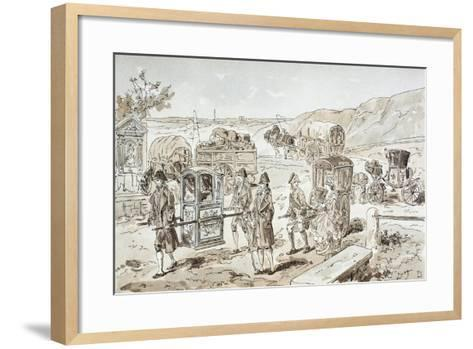 Examples of 18th Century Means of Transport, 1886-Armand Jean Heins-Framed Art Print