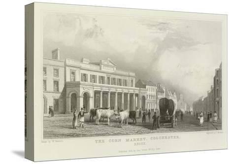 The Corn Market, Colchester, Essex-William Henry Bartlett-Stretched Canvas Print