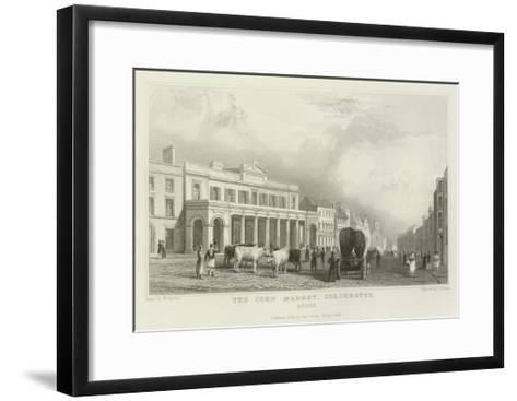 The Corn Market, Colchester, Essex-William Henry Bartlett-Framed Art Print