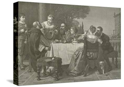 A Fete at the House of Titian--Stretched Canvas Print