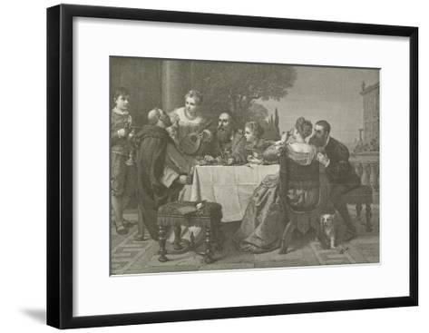 A Fete at the House of Titian--Framed Art Print