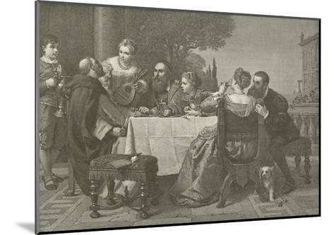 A Fete at the House of Titian--Mounted Giclee Print