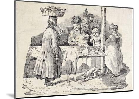 The Sleeping Fish Seller-Th?odore G?ricault-Mounted Giclee Print