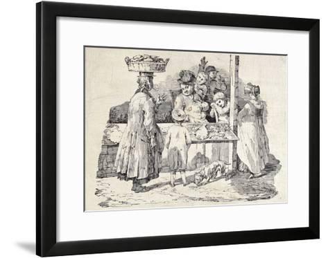The Sleeping Fish Seller-Th?odore G?ricault-Framed Art Print