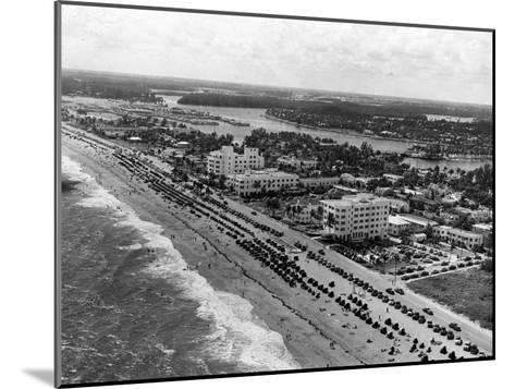 Aerial View of Fort Lauderdale Beach, 1950--Mounted Photographic Print