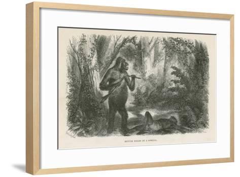 Hunter Killed by Gorilla--Framed Art Print