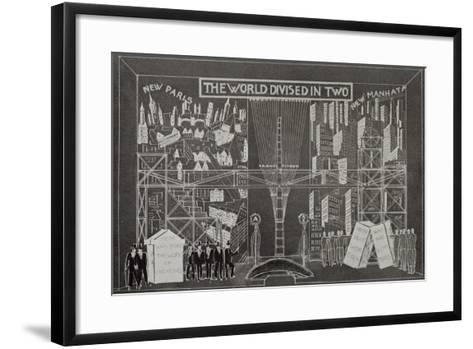 Sketch for Adam Creator, Play-Karel Capek-Framed Art Print