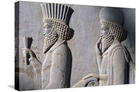 Bas-Relief Showing Persian Nobleman--Stretched Canvas Print