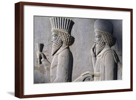 Bas-Relief Showing Persian Nobleman--Framed Art Print