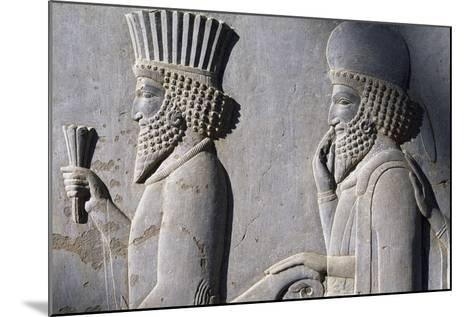 Bas-Relief Showing Persian Nobleman--Mounted Giclee Print