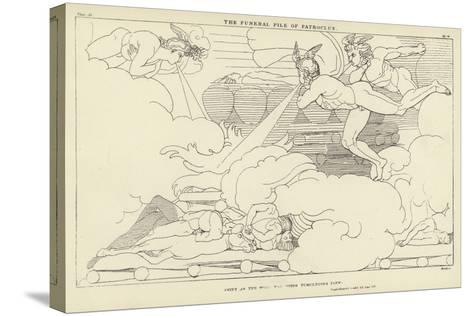 The Funeral Pile of Patroclus-John Flaxman-Stretched Canvas Print