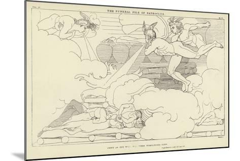 The Funeral Pile of Patroclus-John Flaxman-Mounted Giclee Print