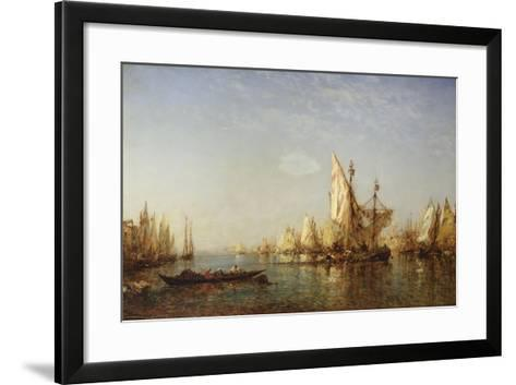 Shipping on the Grand Canal, Venice-Felix Ziem-Framed Art Print