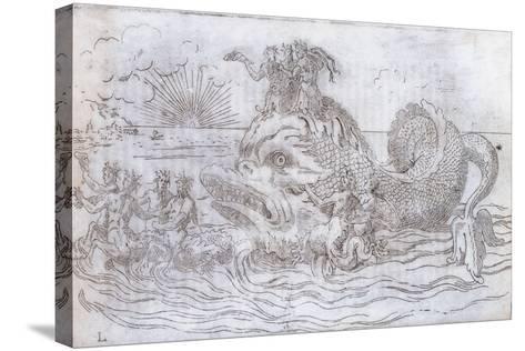 A Fantastical Fish Chariot, 1579--Stretched Canvas Print