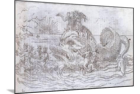 A Fantastical Fish Chariot, 1579--Mounted Giclee Print